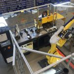 Robot Load/Unload Auto gauge with laser marking station