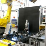 Fully Automatic Gauge with robotically loaded workpieces from a pallet conveyor