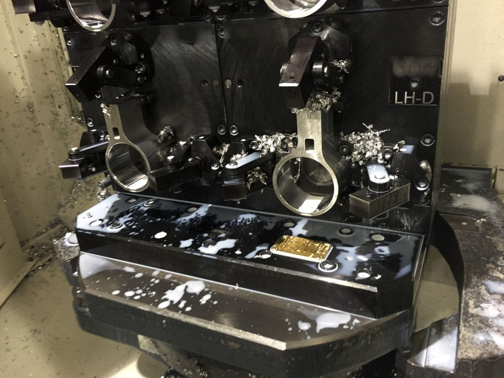 Hydrobracket Fixture for Horizontal Machining Center
